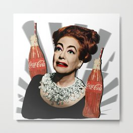 Joan Crawford Coca-Cola Metal Print