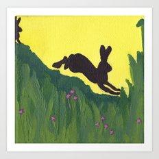 Young Peter Rabbit - Panel 1 Art Print