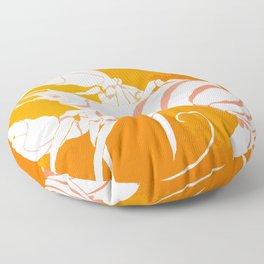 White Gold Lobster Floor Pillow