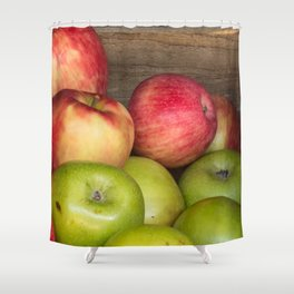 Assorted Red and Green Apples Shower Curtain