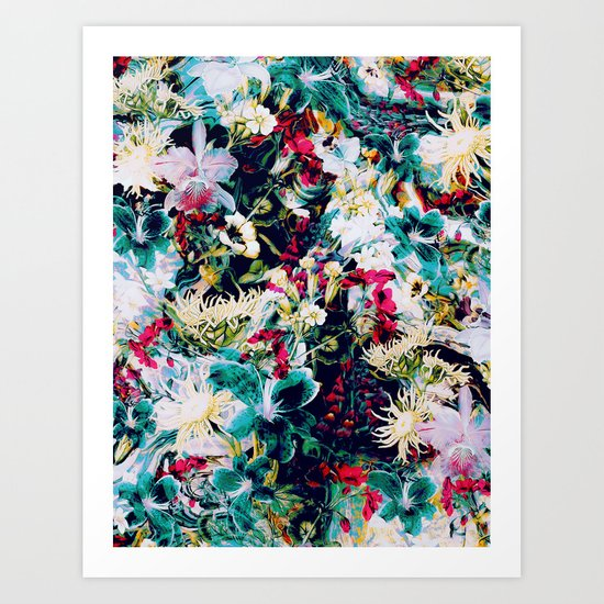 RPE ABSTRACT FLORAL -IV Art Print
