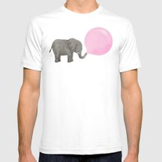 Jumbo Bubble II White LARGE Mens Fitted Tee