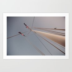 Mast and Moon Art Print