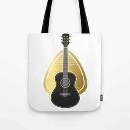 Guitar Pick Bass Guitar Tote Bag