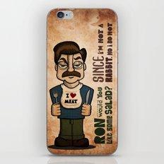 Ron Swanson 2 iPhone & iPod Skin