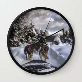 Running With the Dogs Wall Clock