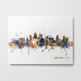 Kansas City Skyline Metal Print