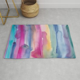 32    190907   Watercolor Abstract Painting Rug