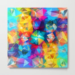 Cool Triangles Metal Print