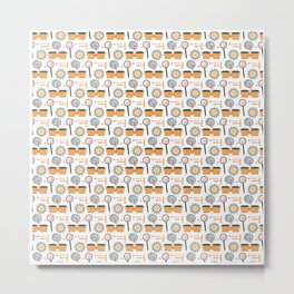 Drummer Pattern   Drums Musician Percussion Music Metal Print