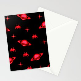 saturn invaders Stationery Cards