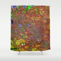 san francisco Shower Curtains featuring san francisco by donphil