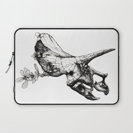Jurassic Bloom - The Horned. Laptop Sleeve
