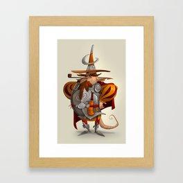 Moon Soldier Framed Art Print