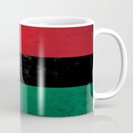 Distressed Afro-American / Pan-African / UNIA flag Coffee Mug