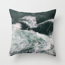 Water Photography   Seascape   Massive Waves   Ocean view   Riptide Throw Pillow