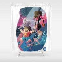 steven universe Shower Curtains featuring Steven Universe by David Pavon