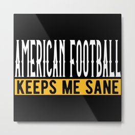 American Football Gift Idea Design Motif Metal Print