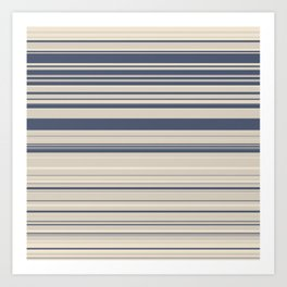 tan stripes Art Print