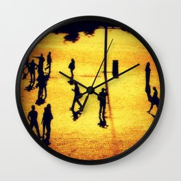 Humans and Statues Wall Clock