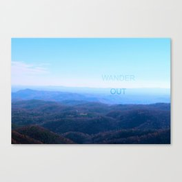 WANDER OUT Canvas Print