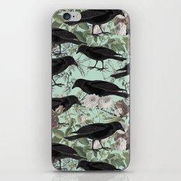 Crow's Vintage Garden iPhone Skin