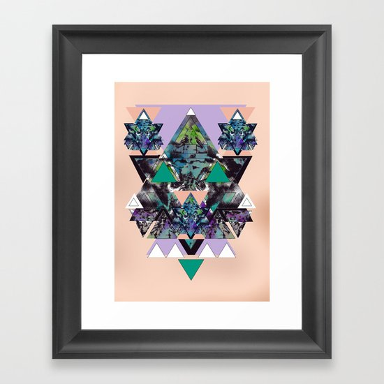 GEOMETRIC MYSTIC CREATURE Framed Art Print