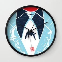 Those Beaches will be Open Wall Clock