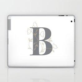 'B' Flower Illustration Laptop & iPad Skin