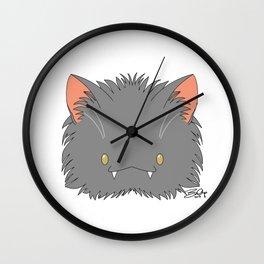 Spoopy Korat Kitty disguise! Wall Clock