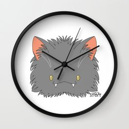 Spoopy Korat Kitty disguise! Wall Clock