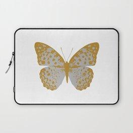 Silver Butterfly Laptop Sleeve