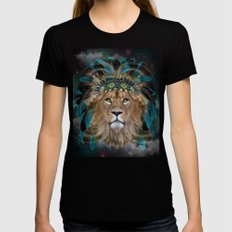 Fight For What You Love (Chief of Dreams: Lion) Tribe Series Black Womens Fitted Tee MEDIUM