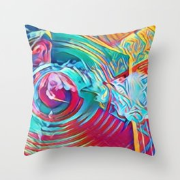 Blow By the O Throw Pillow