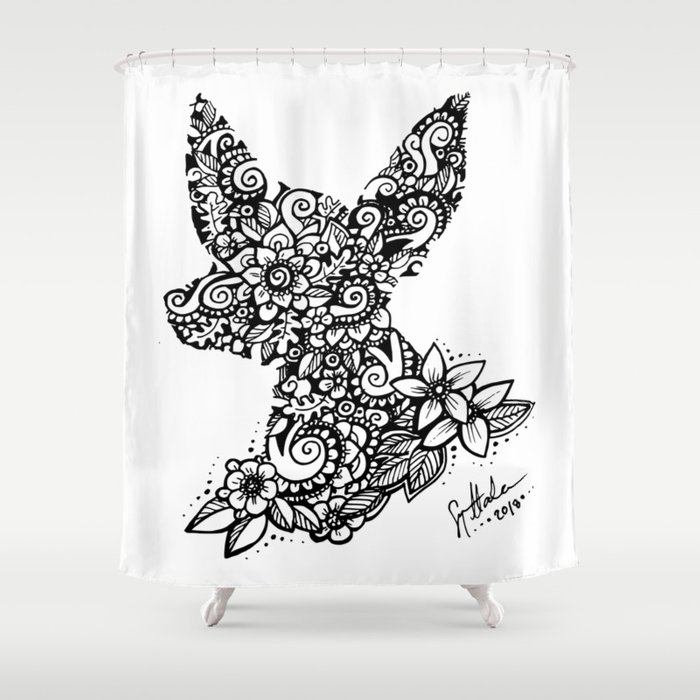 Mandala Dog Mini Shower Curtain