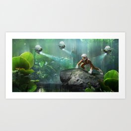 Catching Tarzan Art Print