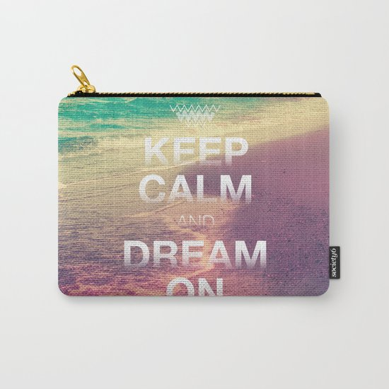 Beach Waves II - Keep Calm and Dream On Carry-All Pouch