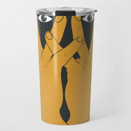 Hands mask Travel Mug