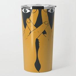 Hands mask Travel Mug