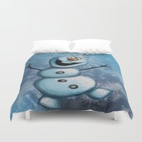 olaf Duvet Covers featuring Olaf by MandiMccl