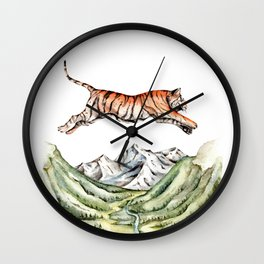 Tiger Leaping Gorge Wall Clock