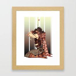 blood bubble Framed Art Print
