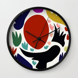 Birds in the sun minimal art abstract pattern decorative Wall Clock