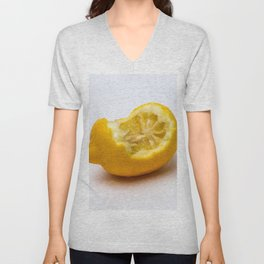 Keep smiling. Half eaten lemon Unisex V-Neck