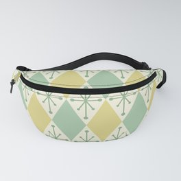 Diamonds and Starbursts Mint Fanny Pack