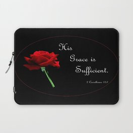 His Grace is Sufficient Laptop Sleeve