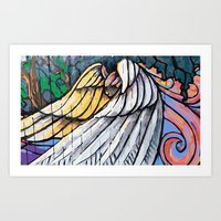 Fence Angel Art Print