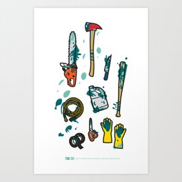 Usefull Colored Tools (plain) Art Print