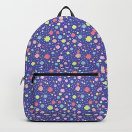 Spring Floral Blue Backpack