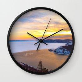 Lake Baikal and Angara River Wall Clock